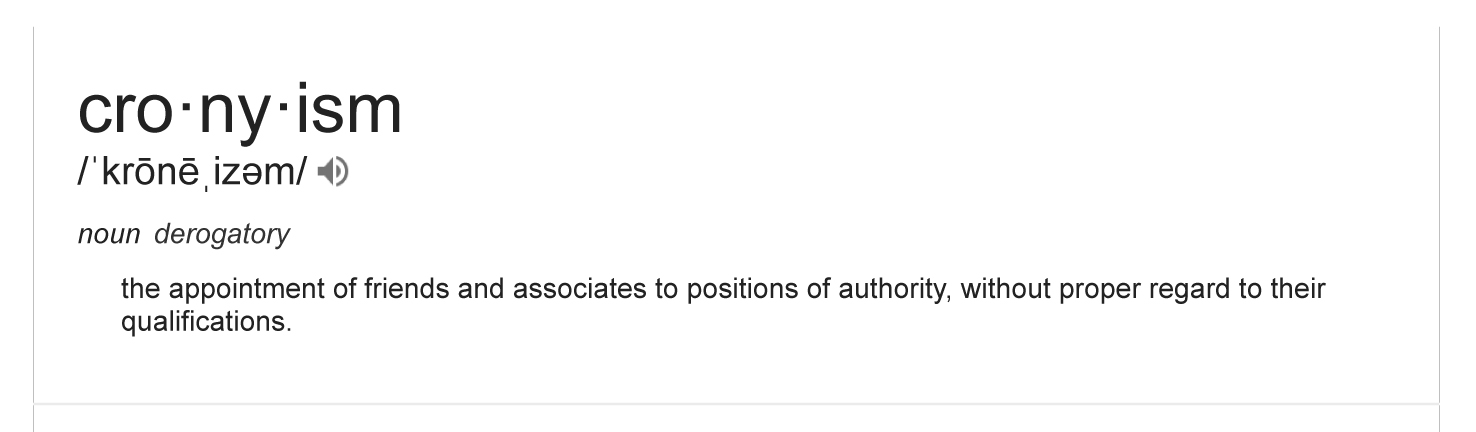 cronyism meaning - Google Search